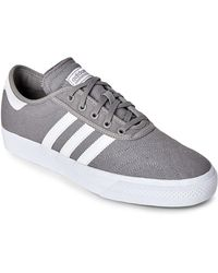 low priced fab75 aa185 adidas Originals - Grey  White Adi-Ease Premiere Skateboarding Sneakers -  Lyst
