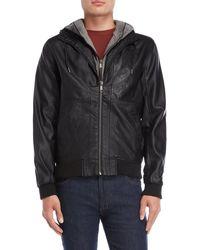 Bellfield - Black Porto Hooded Jacket - Lyst