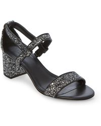 Sandro - Aurele Glitter Block Heel Sandals - Lyst