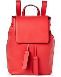 French Connection - Shanghai Red Vale Faux Leather Backpack - Lyst