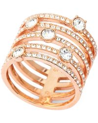 Swarovski - Rose Gold-tone Creativity Wide Ring - Lyst