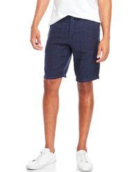 Benson - Linen Printed Drawstring Shorts - Lyst