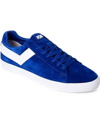 Product Of New York - Royal & White Topstar Low Core Suede Sneakers - Lyst