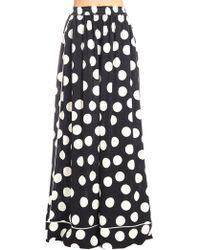 Dolce & Gabbana - Wide-leg Polka Dot Charmeuse Pj Trousers - Lyst