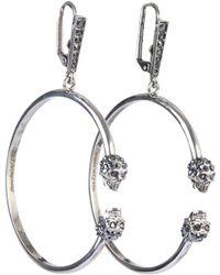 Alexander McQueen - Embellished Skull Hoop Earrings - Lyst