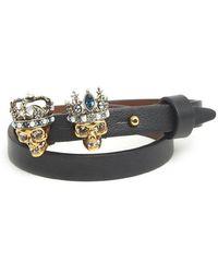 Alexander McQueen - Skull Queen & King Bracelet - Lyst