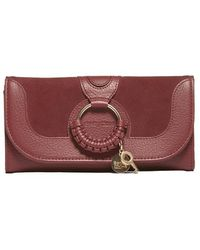 See By Chloé - See By Chloè Interwoven Embellished Charm Wallet - Lyst