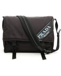 02c11075b5b3 Prada Cahier Folk Crossbody Bag in Black - Lyst