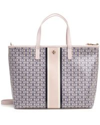bfc71093acc Tory Burch Parker Small Tote in Blue - Lyst