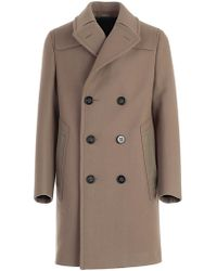Lanvin - Double-breasted Long Coat - Lyst