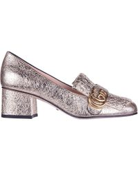Gucci - Marmont Fringe Detailed Pumps - Lyst