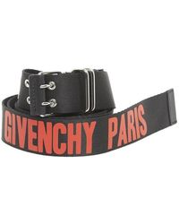Givenchy - Logo Print Belt - Lyst