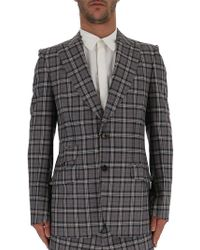 ba4c396c5 Lyst - Gucci Stretch Twill Jacket With Velvet in Blue for Men