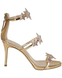 25f503daa84c Lyst - Giuseppe Zanotti 100% Authentic Design Gold Jeweled Sandals ...