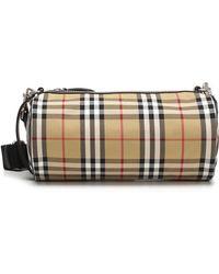 Burberry - Vintage Check Cylindrical Shoulder Bag - Lyst 08e6b56f7175f