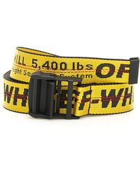96dd34be4583 Lyst - Off-White c o Virgil Abloh Industrial Belt in Yellow