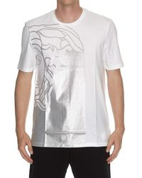 Versace - Medusa Print T-shirt - Lyst
