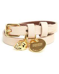 Alexander McQueen - Double Wrap Skull Charm Bracelet - Lyst