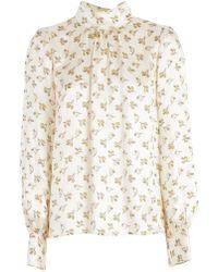 Marc Jacobs - Floral Print Silk Blouse - Lyst