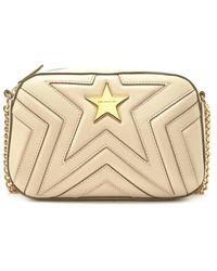 Lyst - Stella Mccartney Falabella Fauxsuede Crossbody Bag in Natural d5d386a9acf90