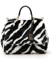 a244839d2135 Lyst - Dolce   Gabbana Sicily Handbag in Black