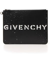 88065d5b37f Givenchy Large Logo Pouch in Black for Men - Lyst