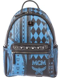 MCM - Small Stark Baroque Print Backpack - Lyst
