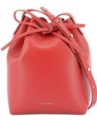 fd1f02ee14c0 Lyst - Mansur Gavriel Calf-Leather Cross-Body Bag in Green