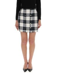 Thom Browne - Double Breasted Check Mini Skirt - Lyst