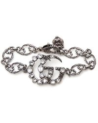 Gucci - Double GG Charm Bracelet - Lyst