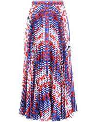 MSGM - Mixed Print Pleated Skirt - Lyst