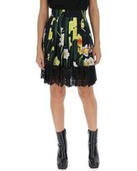Dolce & Gabbana - Floral Lace Skirt - Lyst