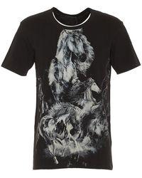 Balmain - Horse Print T-shirt - Lyst