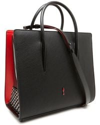 Lyst - Christian Louboutin Paloma Small Loubicouture Tote Bag in Black 8d0ae796c71fd