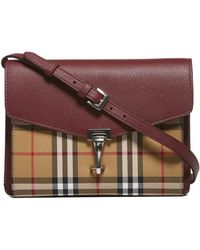 ccc3cccd7119 Burberry Pre-owned Cloth Crossbody Bag in Brown - Lyst