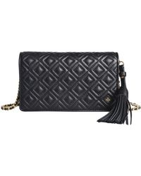 c4ded59d07a Tory Burch Crossbody Amanda Wallet On A Chain in Brown - Lyst
