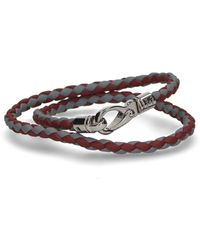 Tod's - Braided Interwoven Double Wrap Bracelet - Lyst