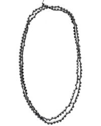 Ann Demeulemeester - Ann Demeulemester Multi Jewel String Necklace - Lyst