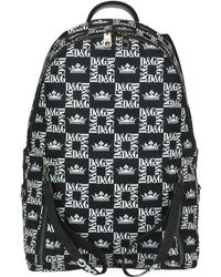 Dolce & Gabbana - All Over Logo Print Backpack - Lyst