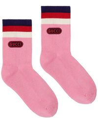 Gucci - Cotton Socks With Game Patch - Lyst