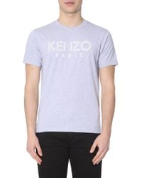 acc8794f Lyst - Kenzo Grey Cotton T-shirt in Gray for Men