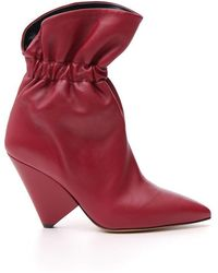 Étoile Isabel Marant - Gathered Ankle Boots - Lyst