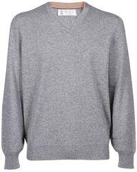 Brunello Cucinelli - Classic Cashmere Sweater - Lyst