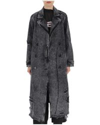 Alexander Wang - Distressed Denim Coat - Lyst