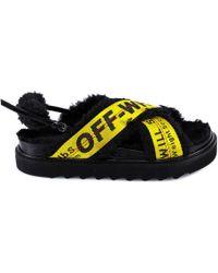 Off-White c/o Virgil Abloh - Industrial Criss Cross Sandals - Lyst