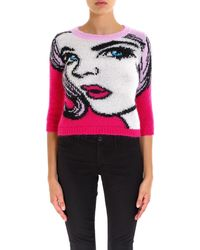 Moschino - Face Pattern Sweater - Lyst