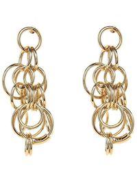 Chloé - Reese Interlocking Hoops Earrings - Lyst