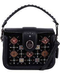 COACH - Embellished Top Handle Bag - Lyst