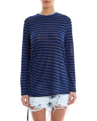 Alexander Wang - T By Striped Side Tie Long Sleeved T-shirt - Lyst