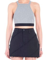f1b859eb2be6 Recently sold out. T By Alexander Wang - Cropped Top - Lyst
